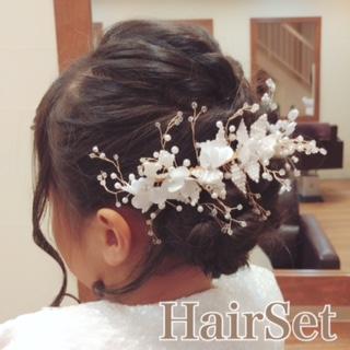 結婚式のヘアセット♪